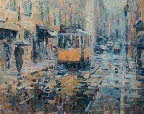 Sporvogn i regn